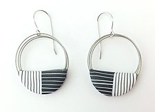 Wire Loop Earrings by Bonnie Bishoff and J.M. Syron (Steel & Polymer Earrings)