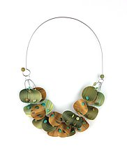 Floating Necklace by Bonnie Bishoff and J.M. Syron (Steel & Polymer Necklace)