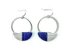 Wire Loop Earrings by Bonnie Bishoff and J.M. Syron (Steel & Polymer Earrings)