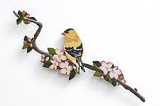 Goldfinch by Bonnie Bishoff and J.M. Syron (Mixed-Media Wall Sculpture)