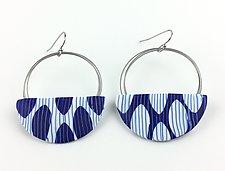 Large Wire Dot Loop Earrings by Bonnie Bishoff and J.M. Syron (Steel & Polymer Earrings)