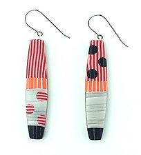 Bold Drop Earrings by Bonnie Bishoff and J.M. Syron (Steel & Polymer Earrings)