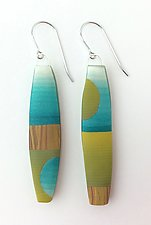 Drop Earrings by Bonnie Bishoff and J.M. Syron (Steel & Polymer Earrings)