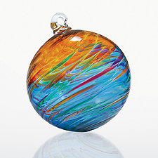 Caribbean Blue by Michael Trimpol and Monique LaJeunesse (Art Glass Ornament)