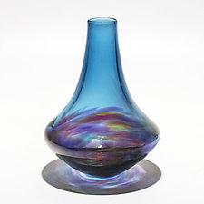 Vortex Morocco Vase by Michael Trimpol and Monique LaJeunesse (Art Glass Vase)
