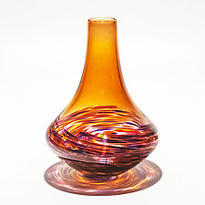 Vortex Morocco Vase by Michael Trimpol and Monique LaJeunesse (Art Glass Vase)
