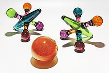 Tropical Mix Jack Set by Michael Trimpol and Monique LaJeunesse (Art Glass Sculpture)