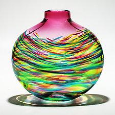 Vortex Flat by Michael Trimpol and Monique LaJeunesse (Art Glass Vase)