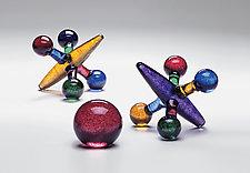 Colored Jack Set by Michael Trimpol and Monique LaJeunesse (Art Glass Sculpture)