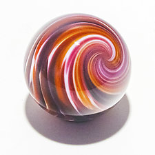 Onion Skin Marble on Star Dish by Michael Trimpol and Monique LaJeunesse (Art Glass Paperweight)