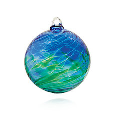 Blue Planet by Michael Trimpol and Monique LaJeunesse (Art Glass Ornament)