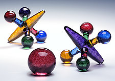Colored Jack Set by Michael Trimpol and Monique LaJeunesse (Art Glass Sculpture)