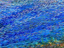 Blue Grotto by Stephen Yates (Acrylic Painting)