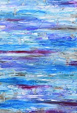 Aquifer Strata (Blue-Purple) by Stephen Yates (Acrylic Painting)
