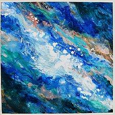 Falls (Blue-Turquoise) by Stephen Yates (Acrylic Painting)