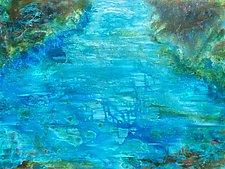 Aqua Grotto by Stephen Yates (Acrylic Painting)