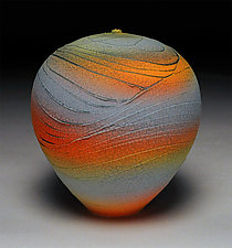 Rainbow Topography II by Nicholas Bernard (Ceramic Vessel)