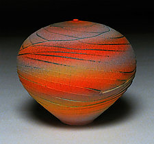 Sunset Topography II by Nicholas Bernard (Ceramic Vessel)