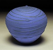 Vivid Blue Wave II by Nicholas Bernard (Ceramic Vessel)