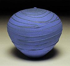 Vivid Blue Wave II by Nicholas Bernard (Ceramic Vessel)