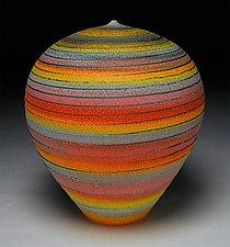 Rainbow Spiral by Nicholas Bernard (Ceramic Vessel)