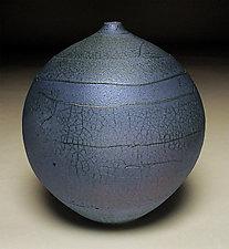 Indigo Spiral II by Nicholas Bernard (Ceramic Vessel)