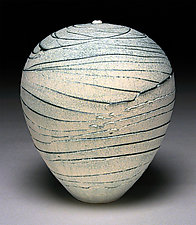 White Topography II by Nicholas Bernard (Ceramic Vessel)