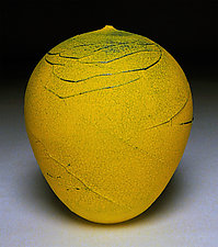 Yellow Wrap II by Nicholas Bernard (Ceramic Vessel)