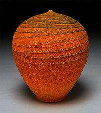 Carved Orange II by Nicholas Bernard (Ceramic Vessel)