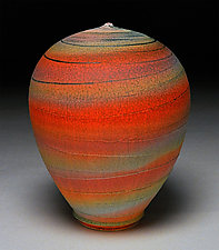 Red Bands by Nicholas Bernard (Ceramic Vases & Vessels)