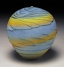 Yellow Band Topography by Nicholas Bernard (Ceramic Vessel)