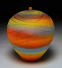 Rainbow Wave II by Nicholas Bernard (Ceramic Vessel)