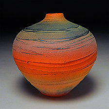 Carved Spiral by Nicholas Bernard (Ceramic Vessel)