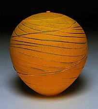 Tangerine Topography V by Nicholas Bernard (Ceramic Vessel)