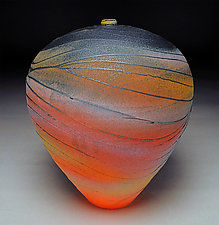 Stormy Wave by Nicholas Bernard (Ceramic Vessel)