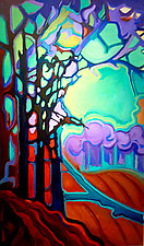 Tree Bends II by Jason Watts (Oil Painting)