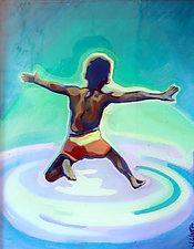 Making a Splash II by Jason Watts (Oil Painting)