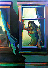 At the Window by Jason Watts (Oil Painting)