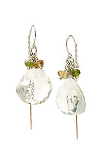 Quartz Tassel Gemstone Chain Threader Earrings by Kathleen Lynagh (Silver & Stone Earrings)