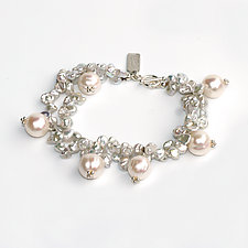 Mixed Pearl Bracelet by Kathleen Lynagh (Silver & Stone Bracelet)