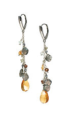 Long Gemstone Drop Earrings by Kathleen Lynagh (Silver & Stone Earrings)