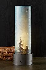 Midnight Sky Luminaire Table Lamp by Janna Ugone (Mixed-Media Table Lamp)