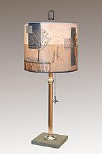 Wander Medium Copper Table Lamp by Janna Ugone (Mixed-Media Table Lamp)