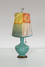 Zest Pool Ceramic Table Lamp by Janna Ugone (Mixed-Media Table Lamp)