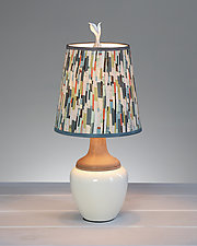 Papers Ceramic and Maple Table Lamp by Janna Ugone (Mixed-Media Table Lamp)