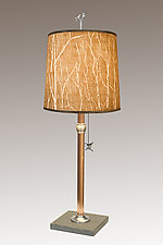 Twigs Copper Table Lamp by Janna Ugone (Mixed-Media Table Lamp)