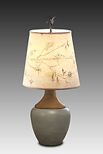 Artful Branch Ceramic and Maple Table Lamp by Janna Ugone (Mixed-Media Table Lamp)
