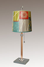 Zest Copper Table Lamp by Janna Ugone (Mixed-Media Table Lamp)