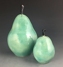 Pair of Pears by Suzanne Crane (Ceramic Sculpture)