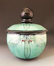 Taj Lidded Bowl by Suzanne Crane (Ceramic Bowls)